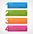 Creative infographic number options template vector image