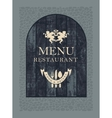 restaurant menu on wooden planks vector image