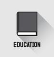 Book icon education concept vector image