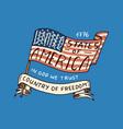 native american flag old labels or badges vector image