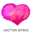 painted heart vector image