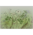wildflowers pastel drawing vector image