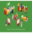Isometric Fast Food Restaurant Interior vector image
