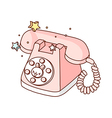 A telephone is placed vector image vector image