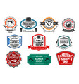 icons for premium barber shop salon vector image vector image