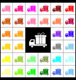 delivery gift sign  felt-pen 33 colorful vector image