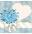 Forget-me-nots with a satiny ribbon vector image