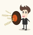 businessman with shield Business concept vector image vector image
