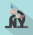 New York City Typography Design vector image