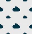 Cloud sign icon Data storage symbol Seamless vector image