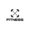 barbell fitness vector image