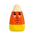candy corns sad emoji sweet emotion sorrowful vector image