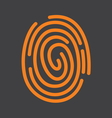fingerprint icon1 vector image