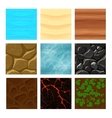 Game ground textures vector image