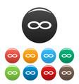 infinity symbol icons set vector image
