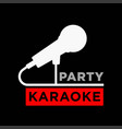 karaoke party minimalistic promotional poster with vector image