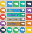 Liver icon sign Set of twenty colored flat round vector image
