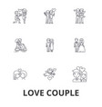 love couple romantic love heart kissing love vector image