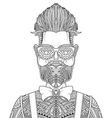 man with beard and tattoo vector image