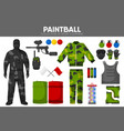paintball game sport equipment team players vector image