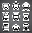 public transport label vector image