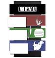 restaurant menu plane with shadow vector image