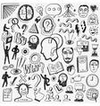Thinking psychology - doodles set vector image