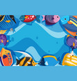 underwater theme background with fish vector image