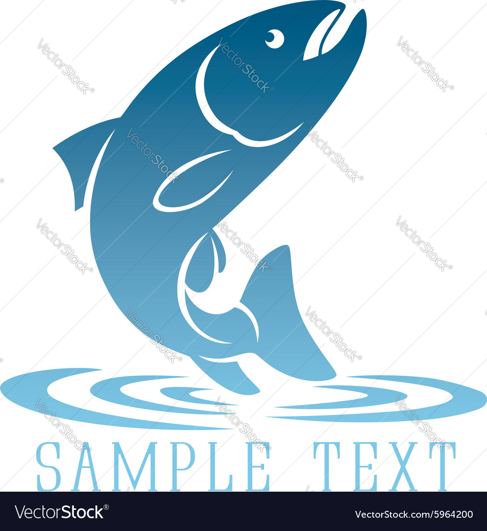 Logo fish vector