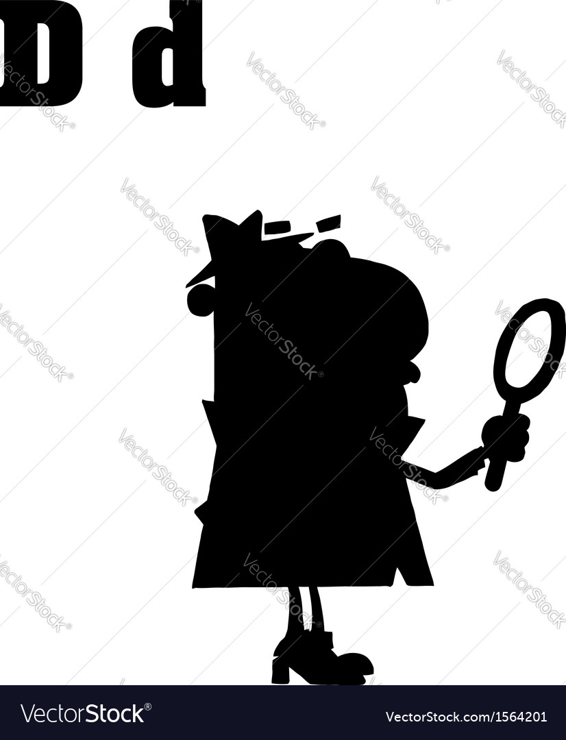 Cartoon detective with letter vector