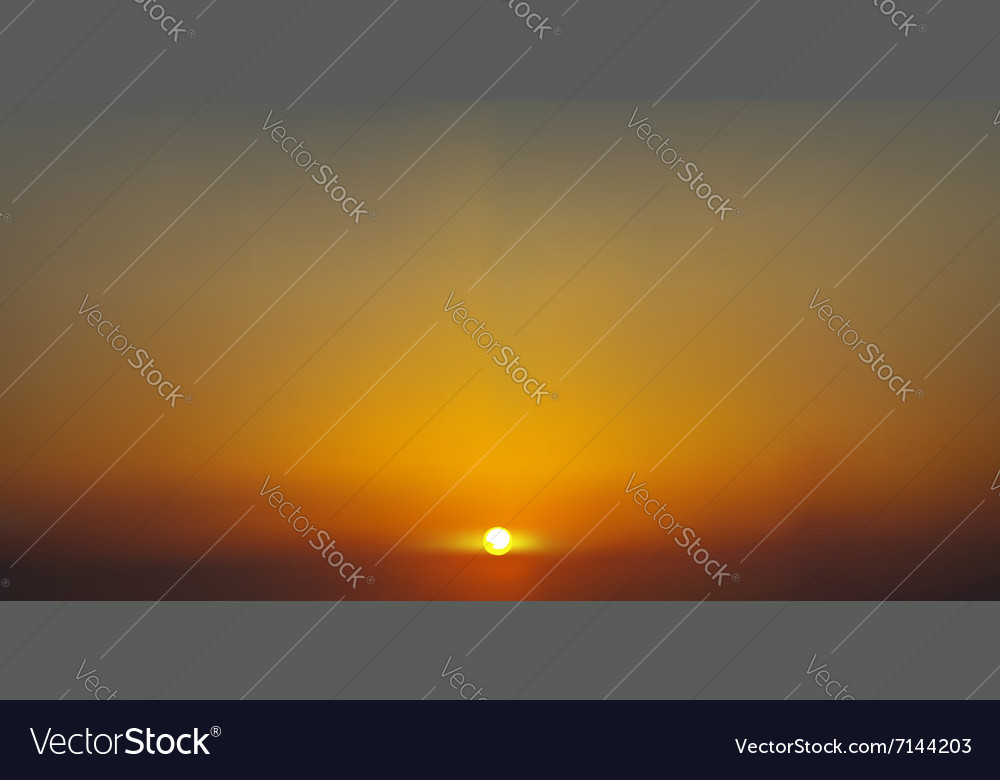 Sunrise or sunset made in the eps 10 vector