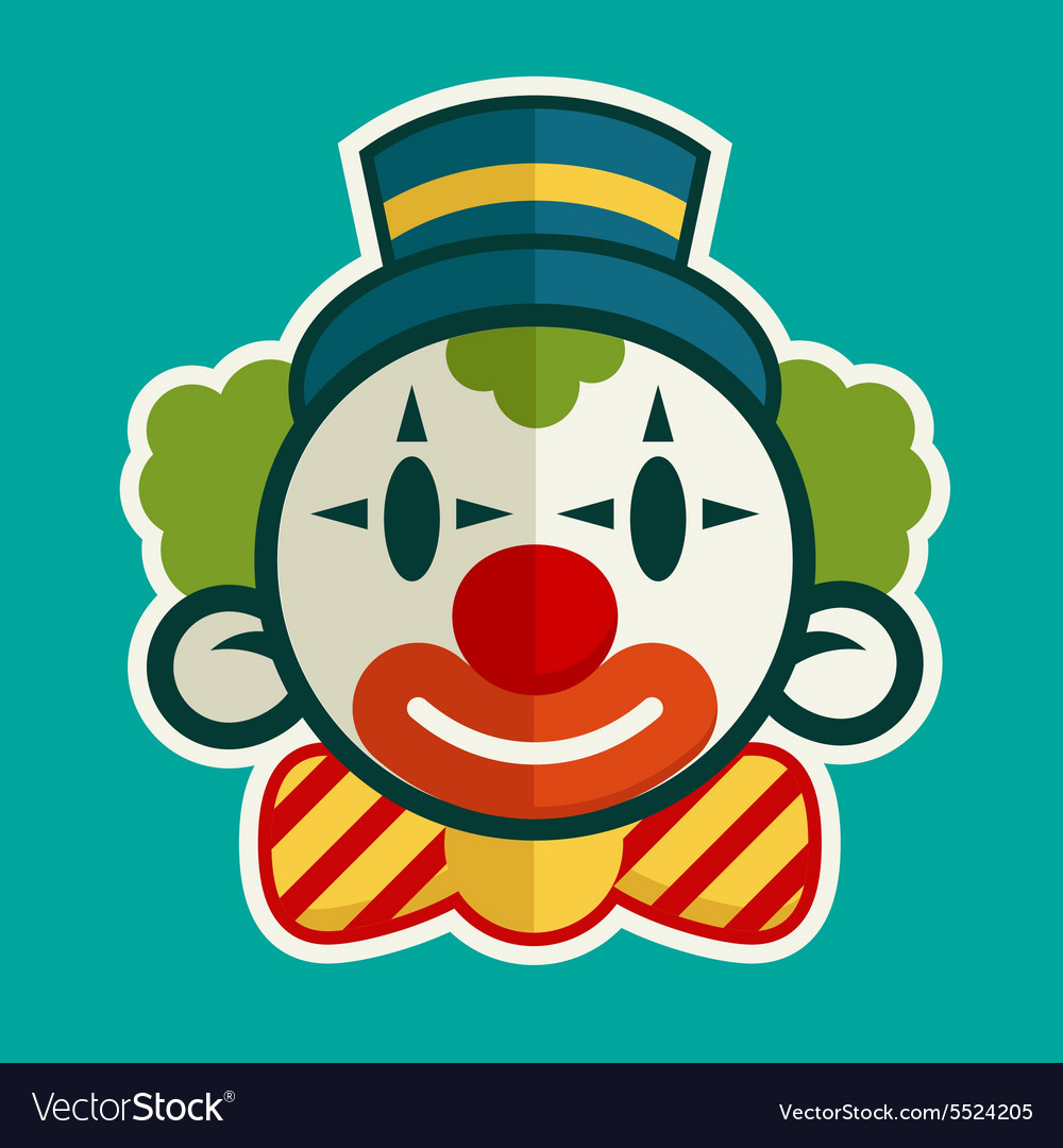 Birthday clown vector