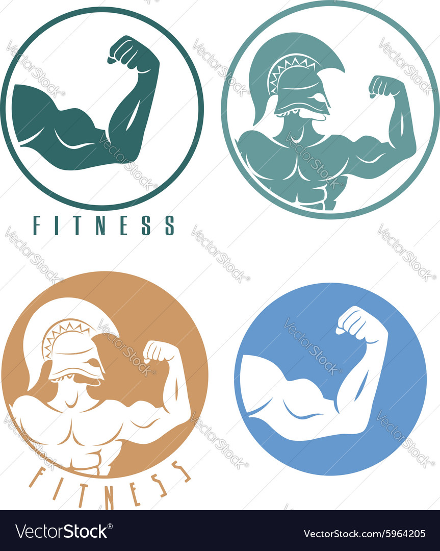 Icons of fitness vector