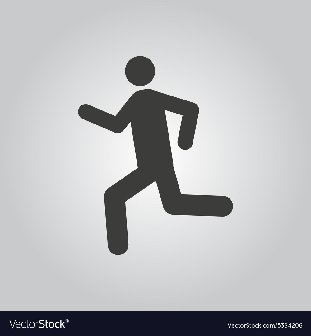 Man running icon run symbol flat vector