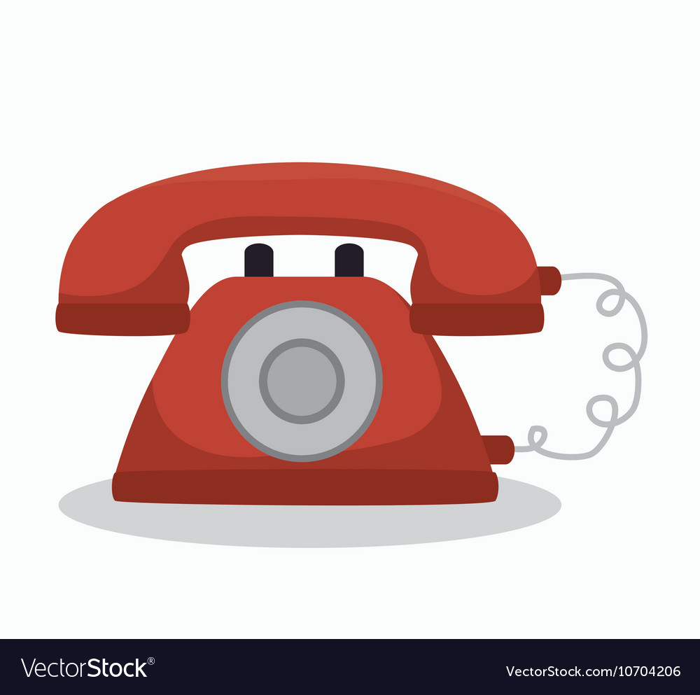 Social media telephone isolated icon design vector