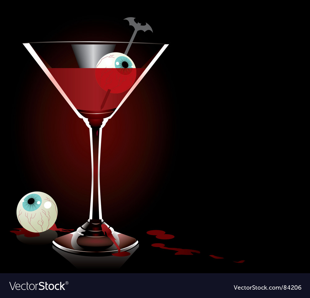 Vampire cocktail vector