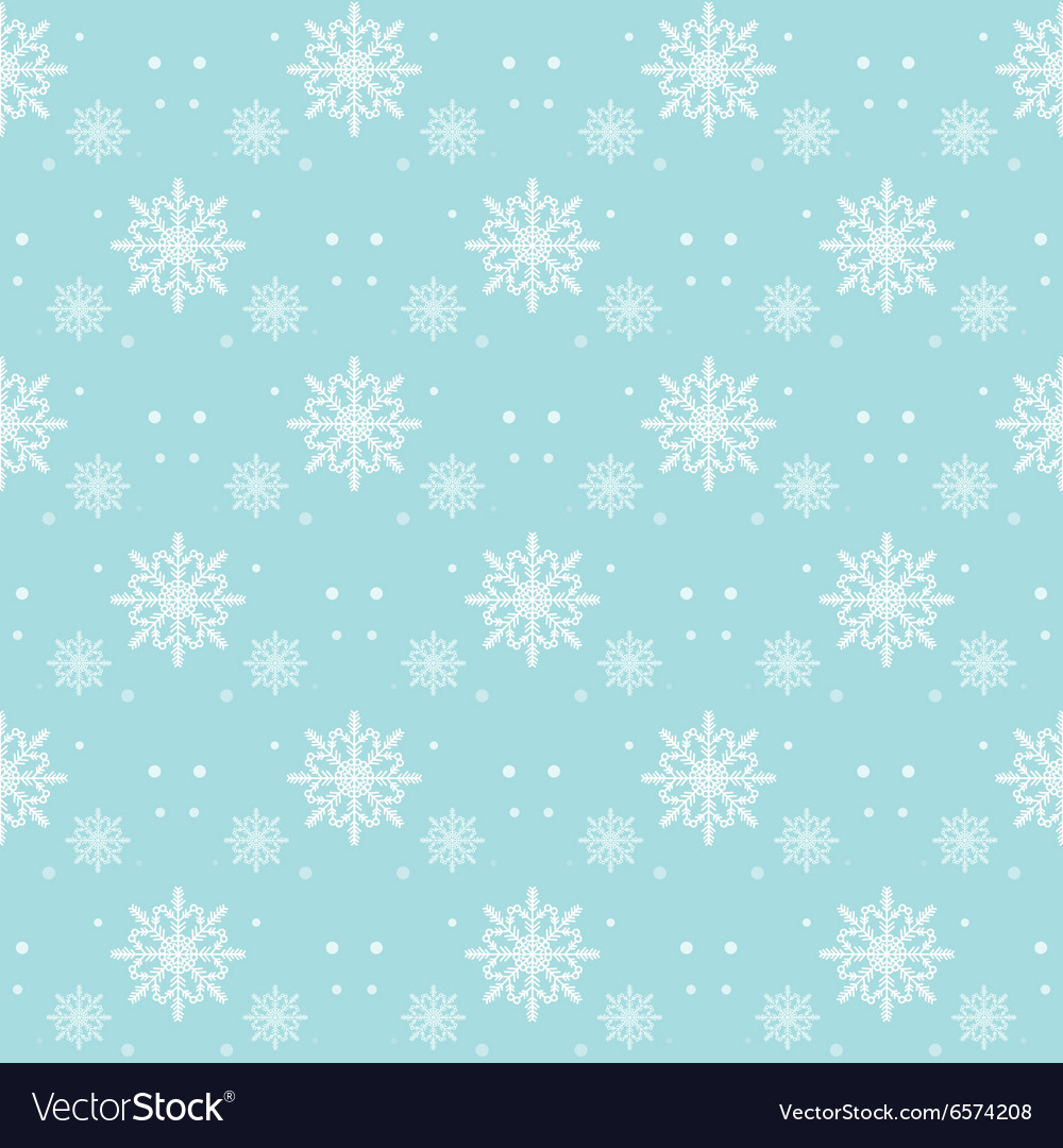 Snow flakes pattern seamless on blue background vector