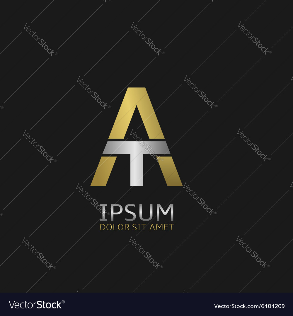 A and t letters vector