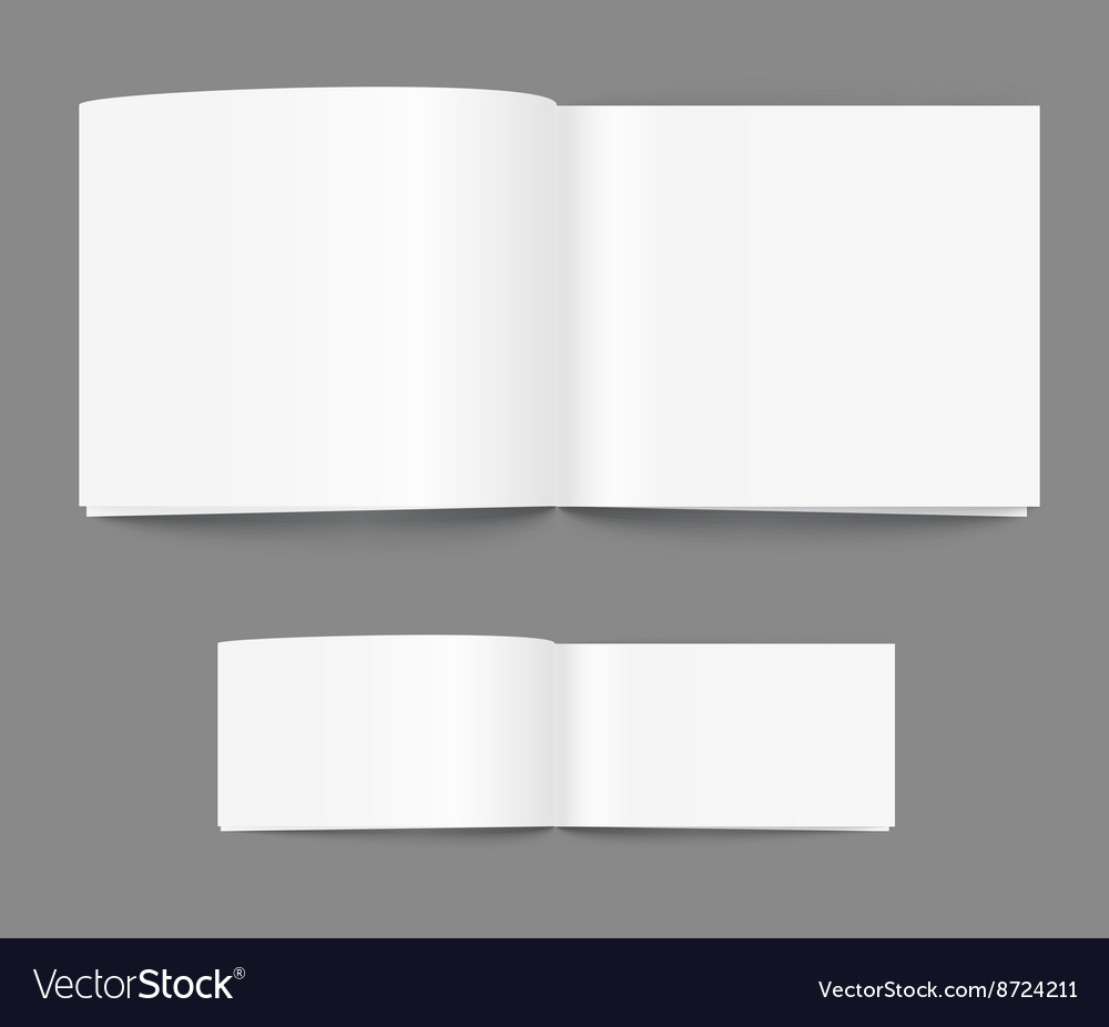 Open book page template vector