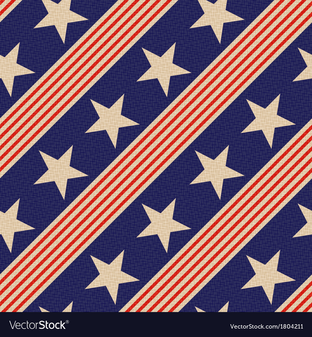 Seamless patriotic usa stars background vector