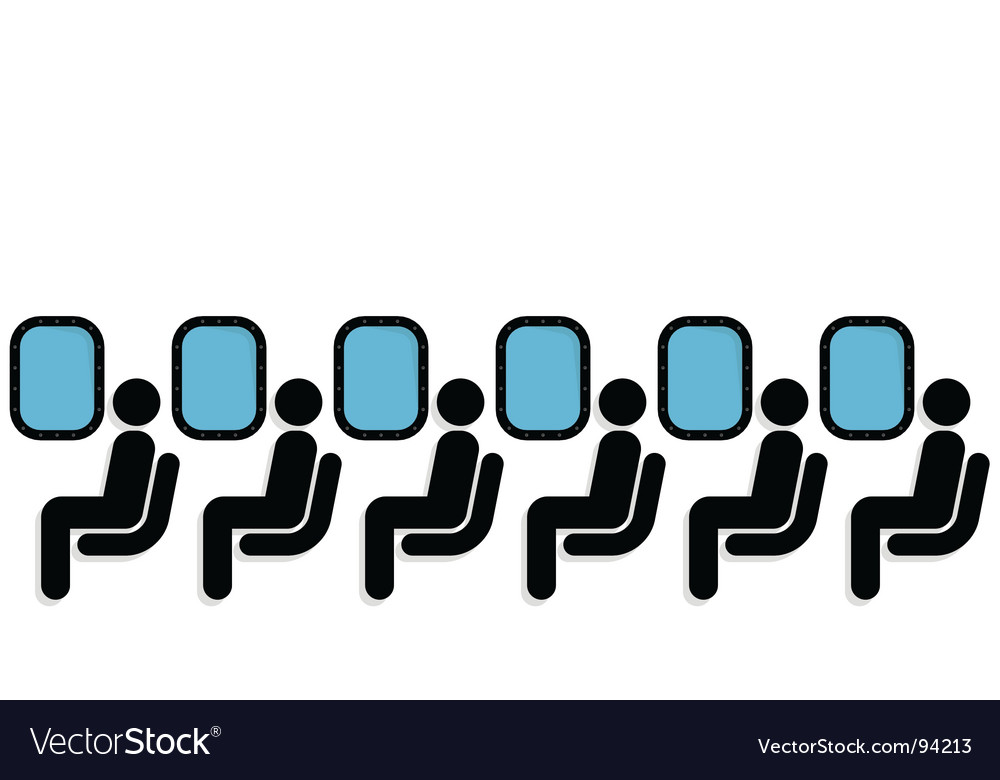 Airplane passengers vector
