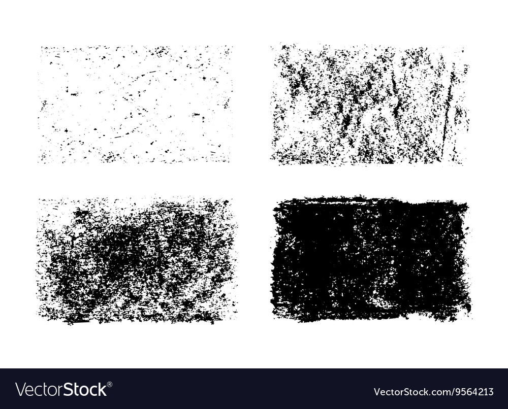 Hand drawn collection of grunge textures vector