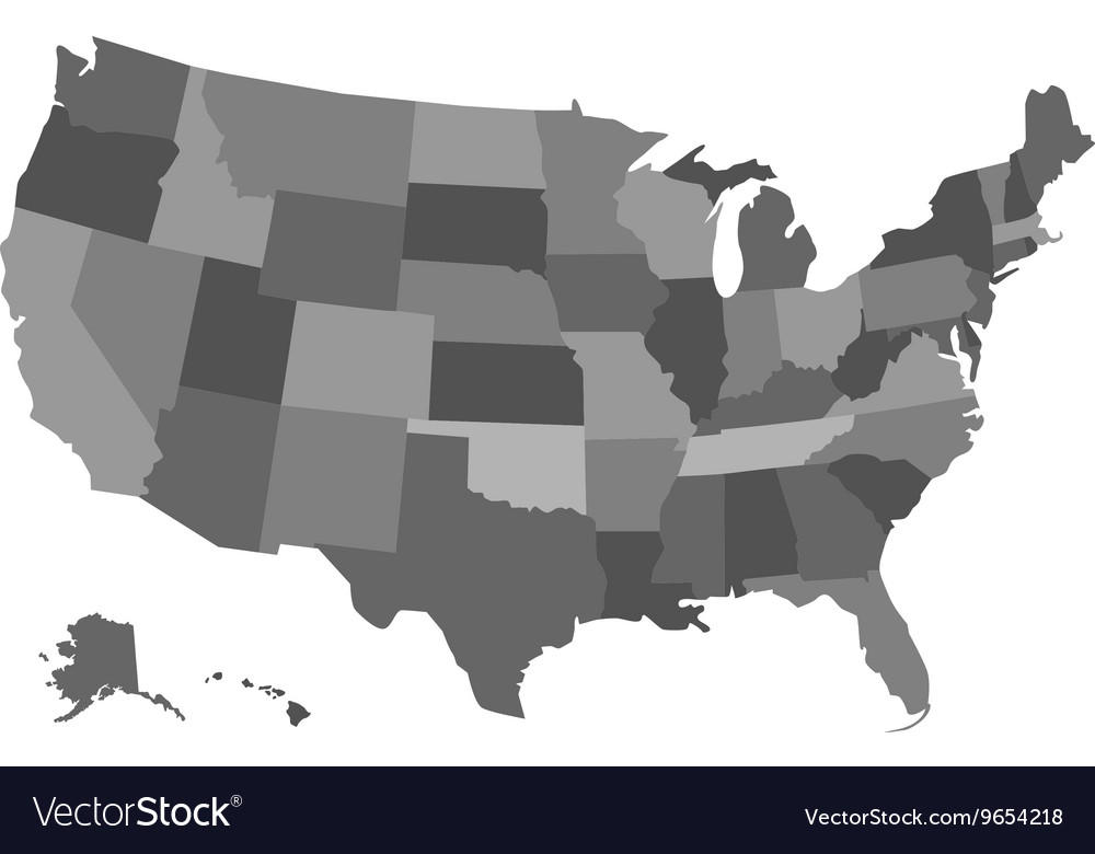 Political usa map vector