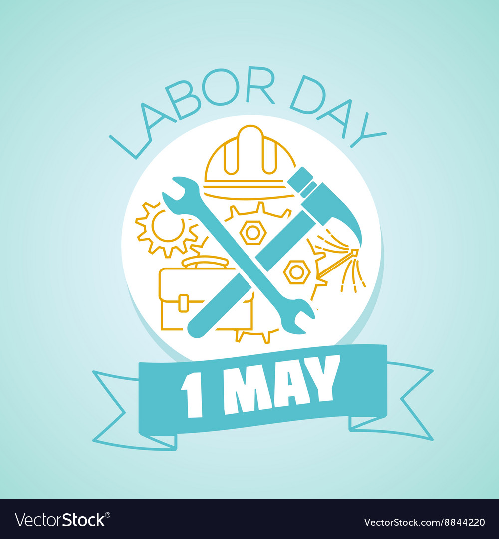 1 may labor day vector