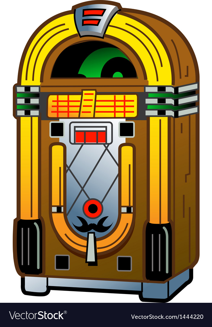 Vintage jukebox vector