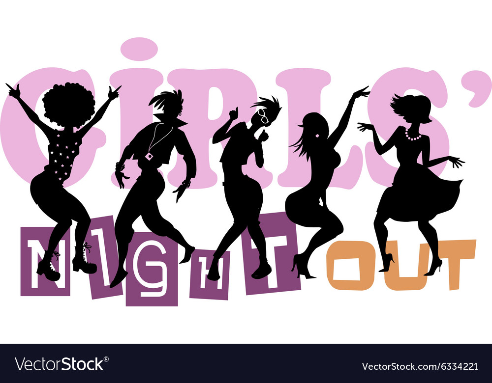 Girls night out vector