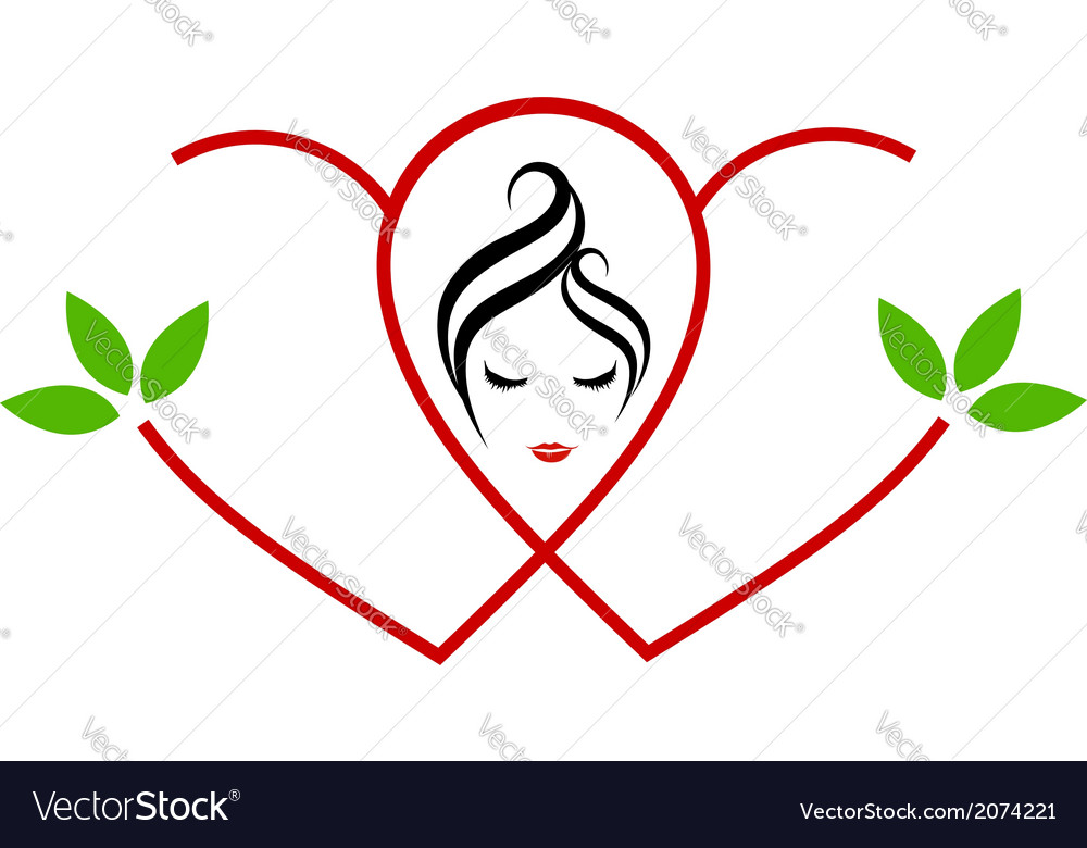 Logo for beauty or alternative medicine for ladies vector