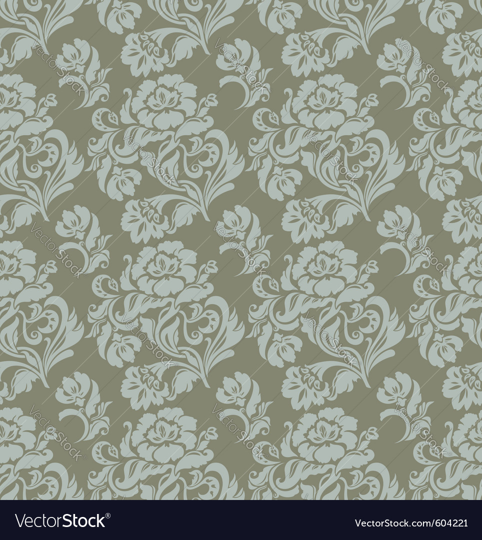 Ornament floral curtains vector