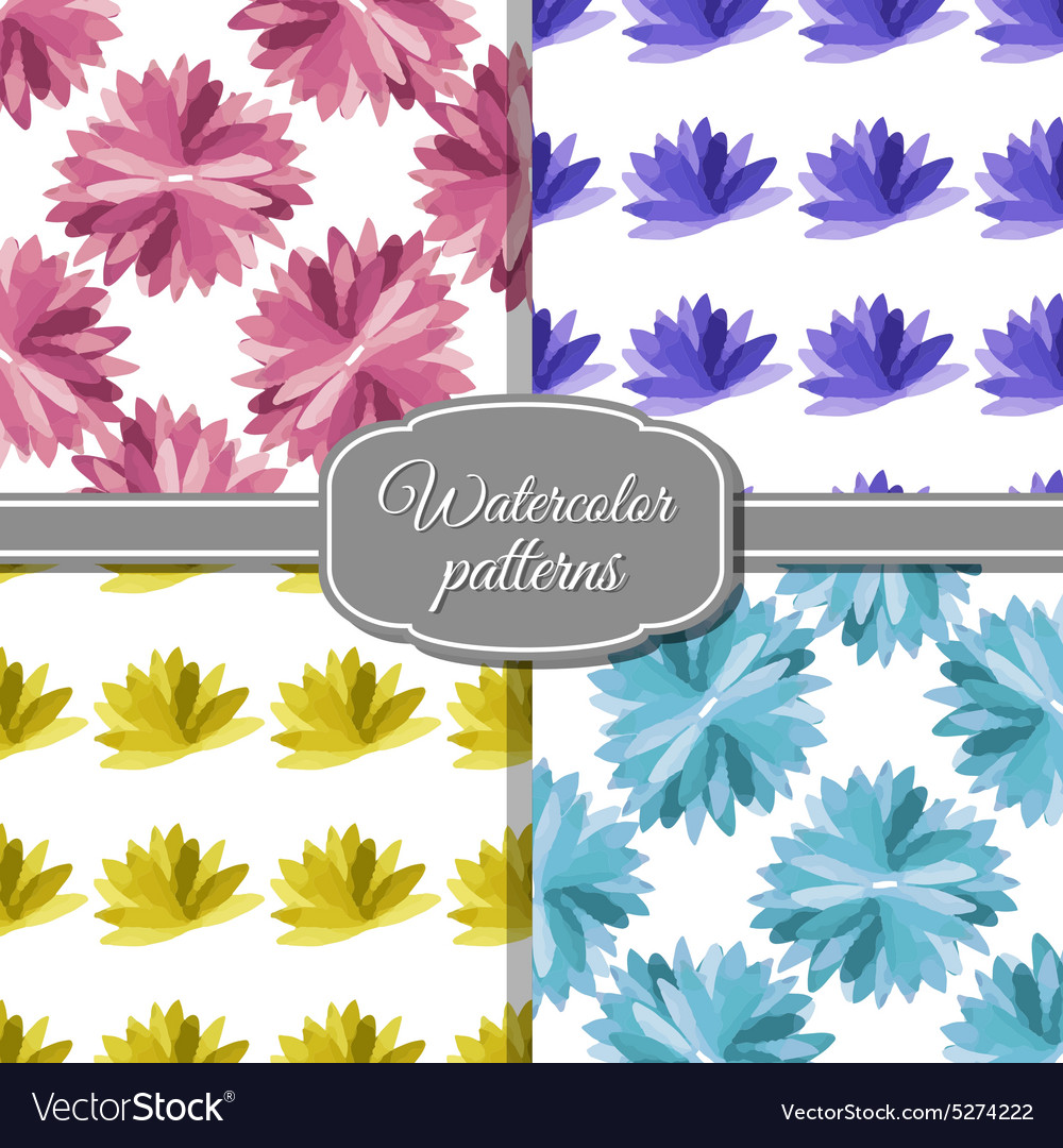 Setwatercolorpatterns vector