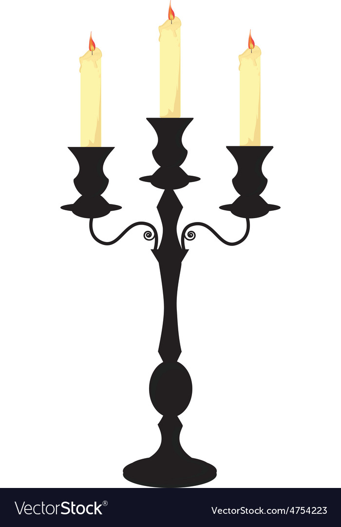 Candle holder vector